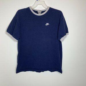 Nike Mens XL Navy Blue/White Logo Short Sleeve